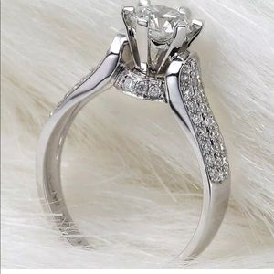 925 sterling silver solitaire ring with stamp
